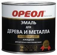 Эмаль ОРЕОЛ белая  матовая .GOLD LABEL 2,2кг