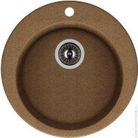 Мойка мраморная ГАЛА круглая 510мм, Размер чаши: D400мм, Цвет: терра