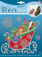 Стикер RoomDecor POX 6653 (снеговик с подарками-мини)
